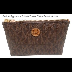 Michael Kors Fulton Signature Travel Case